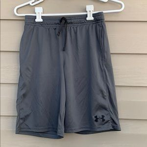 Under Armour boy's gray& black athletic shorts
